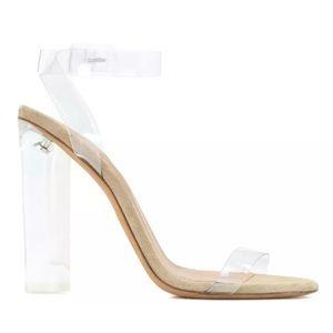 18acbb0ab Yeezy Shoes - Season 2 Yeezy s Lucite sandal heels size 37 BN